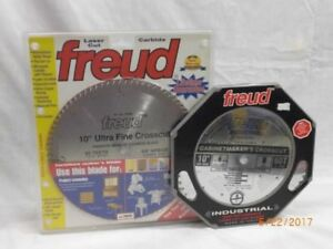 """NEW 10"""" Freud Crosscut & Industrial Cabinetmakers Blades"""