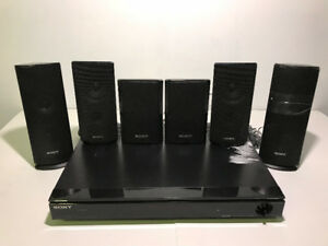 AS-IS SONY HT-SS360 RECEIVER AND 6 SPEAKERS FOR PARTS - FJN