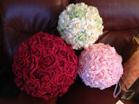 Décoration boules fleurs pompons mariage wedding