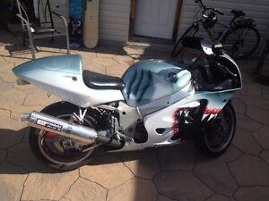 Moto GSX-R plaqué costum