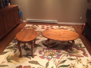 Coffee table and end table - solid maple