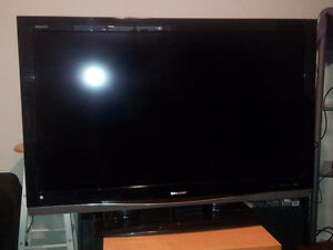 Older 46 Inch Sharp Aquos Television with display issue.