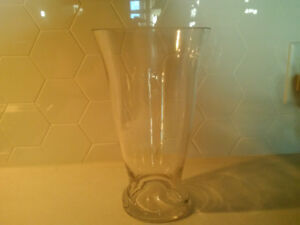 """Glass vase. 10"""" tall and the top is 6"""" wide. Check out my other"""