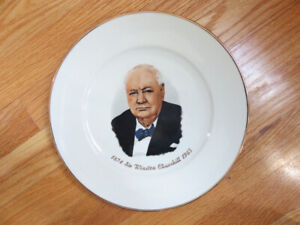 Collectible SIR WINSTON CHURCHILL Plate F/S