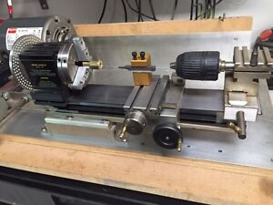 Taig micro lathe with all attachments.