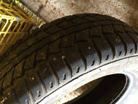 205/65/16 studded winter tires for sale