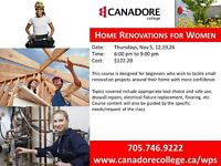 Canadore College, Parry Sound - Home Renovations for Women