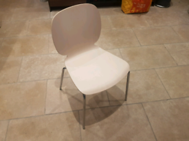 2 wooden Ikea dining chairs for sale