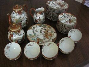 37 pc Vintage Japanese tea set