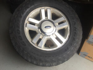 "4 Ford F-150 18"" used tires and rims"