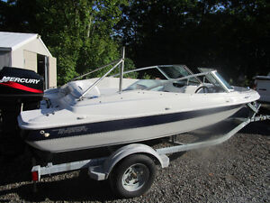 """2004 16' TEMPEST BOWRIDER & TRAILER """"PERFECT COTTAGE BOAT"""""""