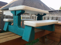 Children Picnic Table & Bench / Table