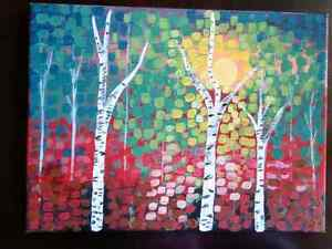 Abstract Aspen - Acrylic Painting