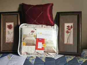 Queen size quilt and shams