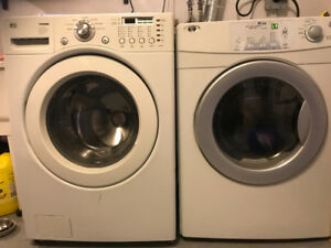 LG TROMM washer & MAYTAG dryer