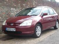 Honda Civic 1.6i VTEC SE Executive 2002(02) 5 Door Hatchback