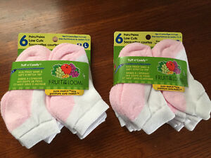 New! Fruit of the Loom 6 pack of socks age 3-5