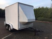 Tow A Van Box Trailer, aluminium drop down ramp