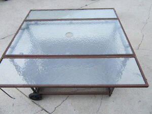 """PATIO TABLE 33"""" X 33"""" - w/LEAVES DOWN 33"""" X 18"""" - 30"""" HIGH"""