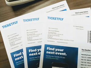 Crystal method tickets - 3 units