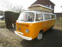 1977 VW T2 Devon Eurovette Four Berth Pop Top Camper for Sale Ref 13660