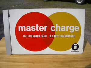 Chargex and Masterharge signs