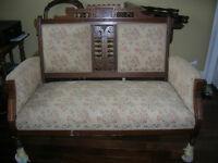 Victorian style settee