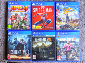 PS4 Jumanji Spiderman Outer Worlds Resident Evil Farcry Playstation Ga