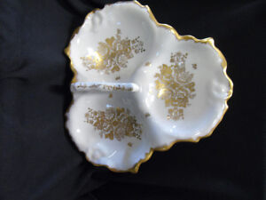 Porcelaine DeFrance Hand Painted Dish with Handle Peterborough Peterborough Area image 3