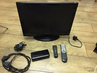 "20"" flat screen TV/ DVD player and good mans digital receiver"