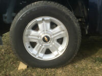 """18"""" chevy LTZ rims with new tires"""