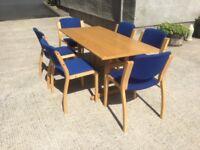 Oak committee table