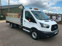 2016 Ford Transit 350 2.0 TDCi 130ps LWB DROPSIDE WITH TAILIFT FSH EURO 6 Dropsi