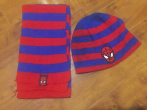 Spider-Man winter hat/scarf set & Disney frozen hat