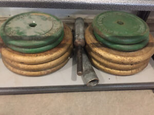 400 LBS metal weight lifting plates for sale