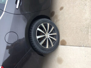 Touren 17 X 7.5 rims 5 X 115 or 5 X 110 bolt hole and snow tires
