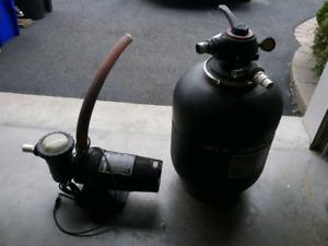 Pompe et filtreur de piscine