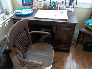 Antique Desk and Office Chair