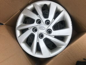 15 inch rims and rim cover set of 4 for hyundai