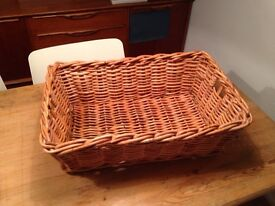 Large wicket natural basket