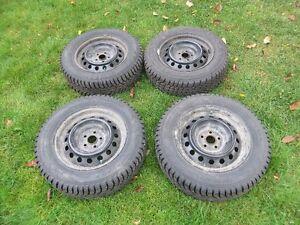 4 winter tires on rims 195/65 R15