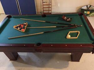 Pool table - ping pong table (table tennis) - 9 ball