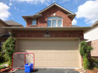 Brick detached home in North Burlington for lease- October 15th