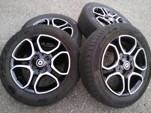 Smart Fortwo Alloy Rims and Tires package flawless