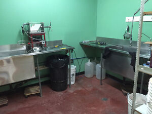 2 Commercial Stainless Steel sinks