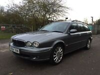 Jaguar X-Type AWD fully loaded satnav+leathers