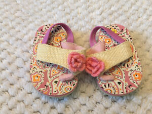 size 2  baby sandals