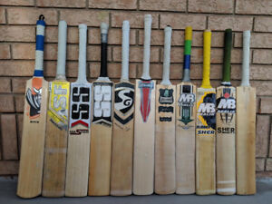 LARGEST STOCK of USED cricket bats / kits / gear / equipment
