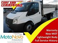 2014 14 FORD TRANSIT TIPPER 350 MWB 1-WAY 100PS (CPD BODY)