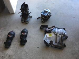 Dirt bike or quad riding gear
